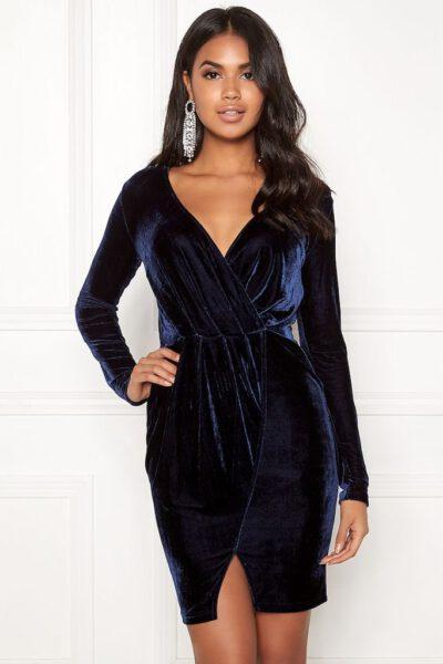 Mörkblå sammetsklänning 77thFLEA