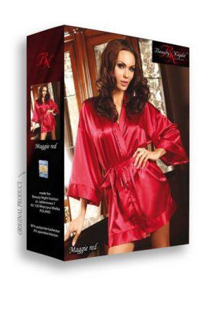 Klassisk röd morgonrock