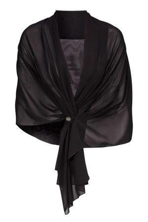 Chiffong sjal svart