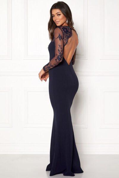 Mörkblå balklänning