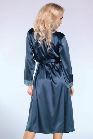 Silkeslen blå morgonrock