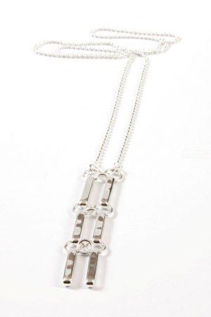 Silverpläterat halsband