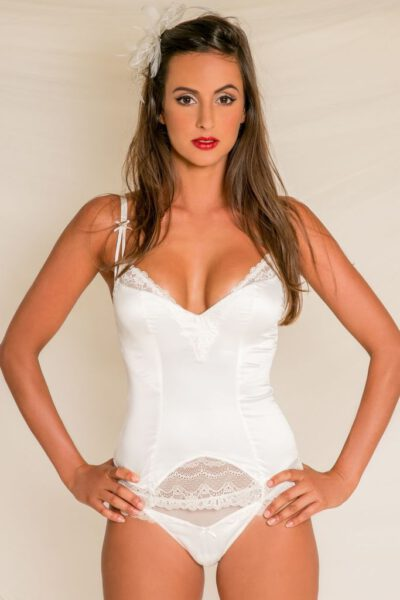 Underkläder | Mjuk vit Korsett