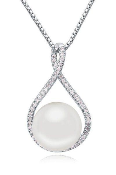 Halsband med vit droppe