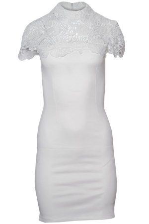 Vit kort klänning