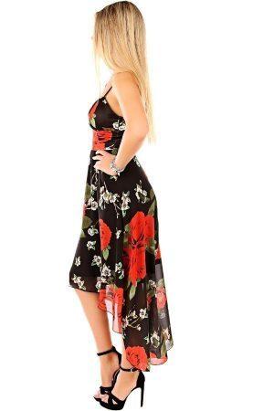 Blommig långklänning
