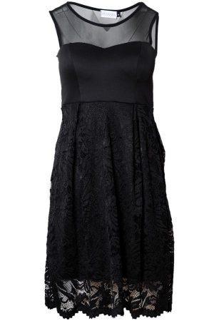 Spetsklänning svart
