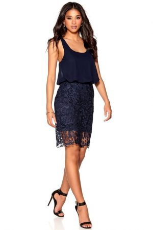 Kort festklänning mörkblå