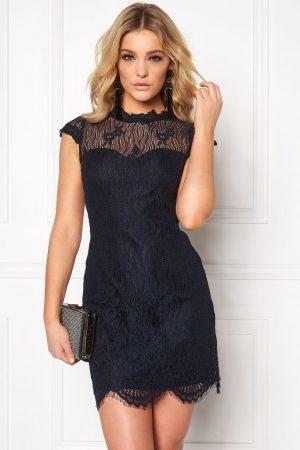 Spetsklänning Mörkblå