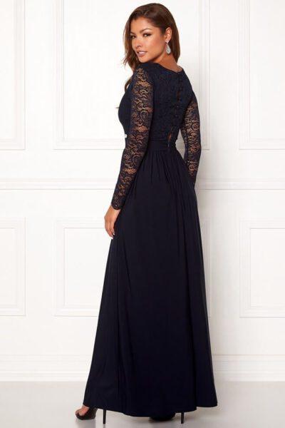 Mörkblå långklänning