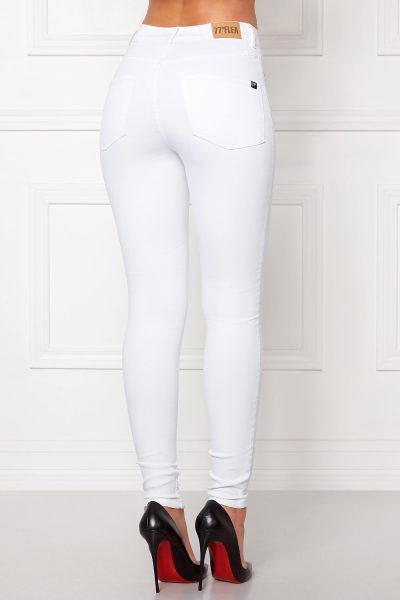 Smala highwaist jeans-leggings i stretchig kvalité - TopLady