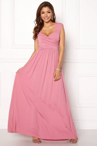 Rosa långklänning
