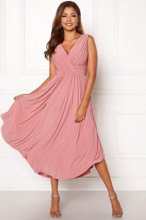 Rosa festklänning