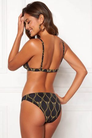 Mönstrad trekants-bikini