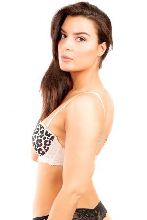Leopardmönstrad push up-bh - TopLady