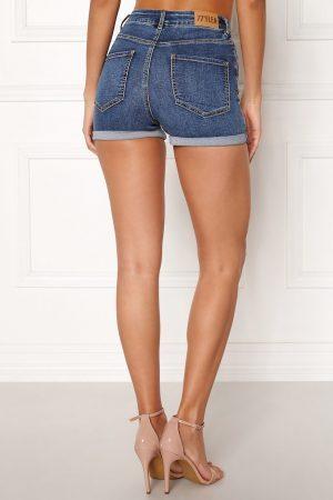 Blå jeansshorts - TopLady