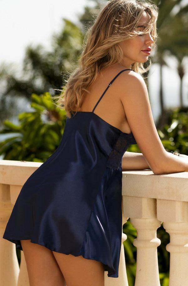 Köp Marinblått nattlinne - TopLady