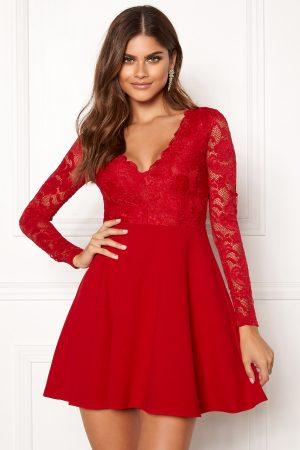 Röd spetsklänning - TopLady