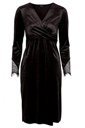 Svart sammetsklänning - TopLady