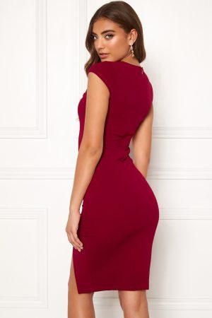 Vinröd fodralklänning - TopLady