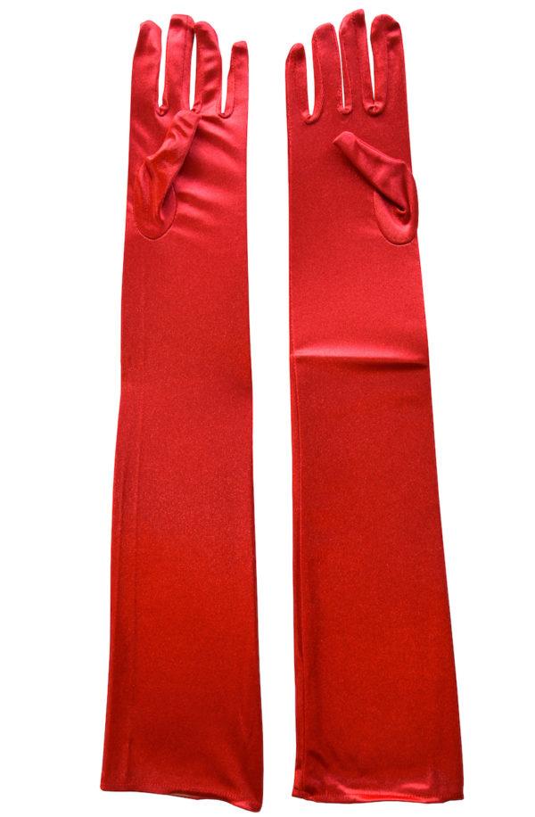 Röda sexiga och långa handskar dam - TopLady