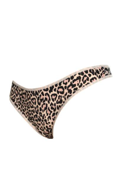 Leopardmönstrad stringtrosa i bomull - TopLady