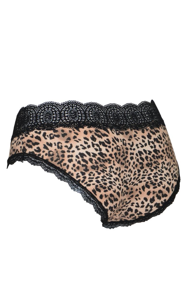 Leopardmönstrad hipstertrosa - TopLady